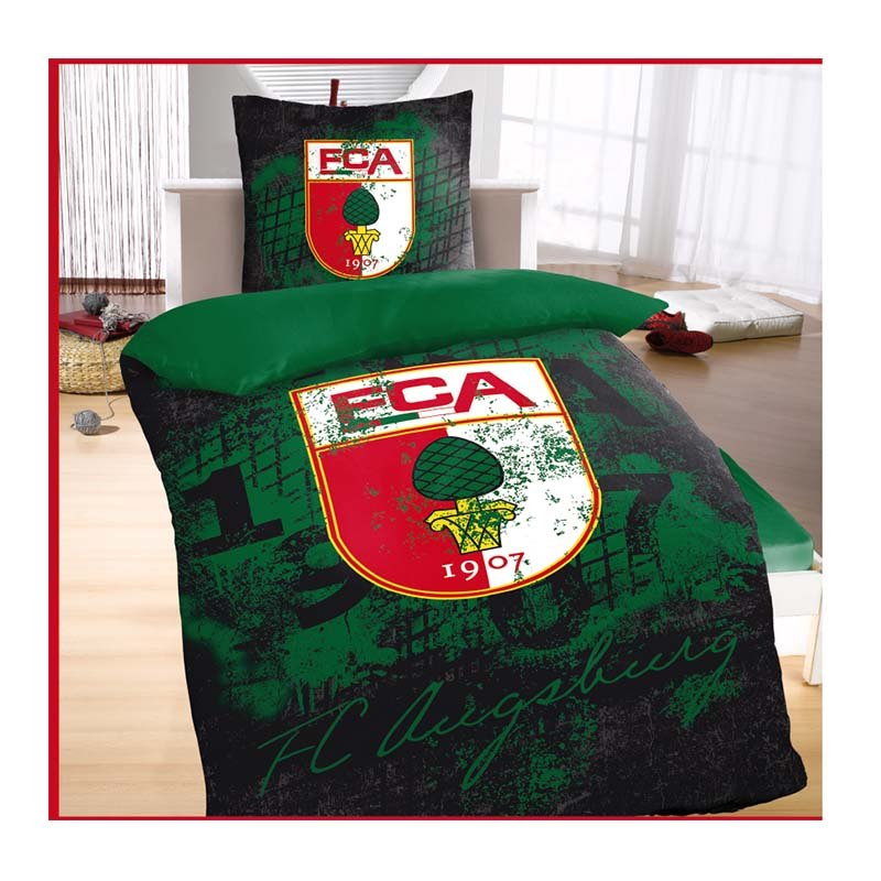 FC Augsburg Bettwäsche 135x200 cm Grün - gruen