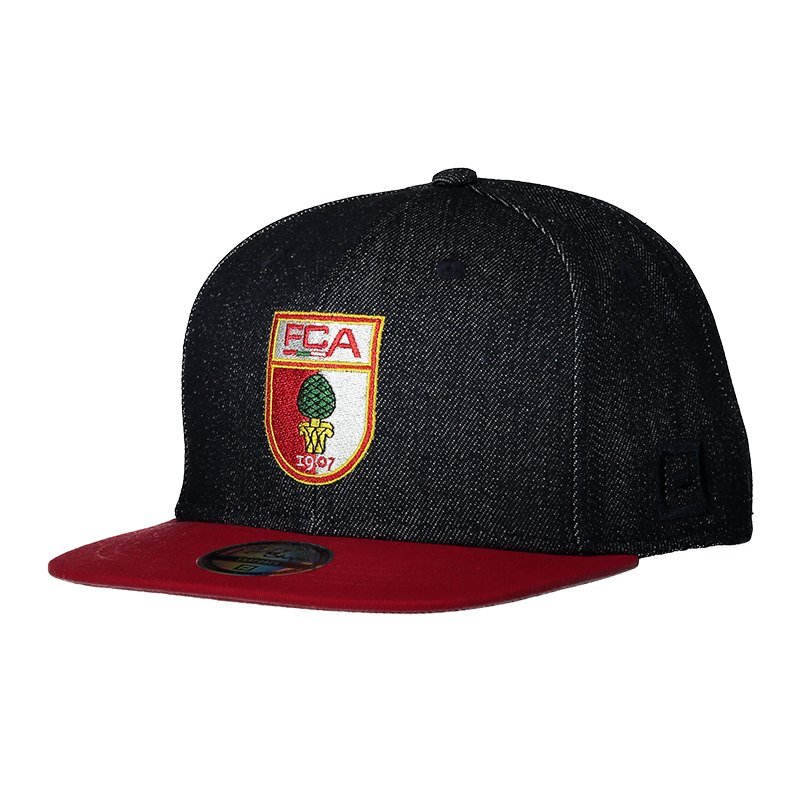 FC Augsburg Fan Cap Denim Rot - blau