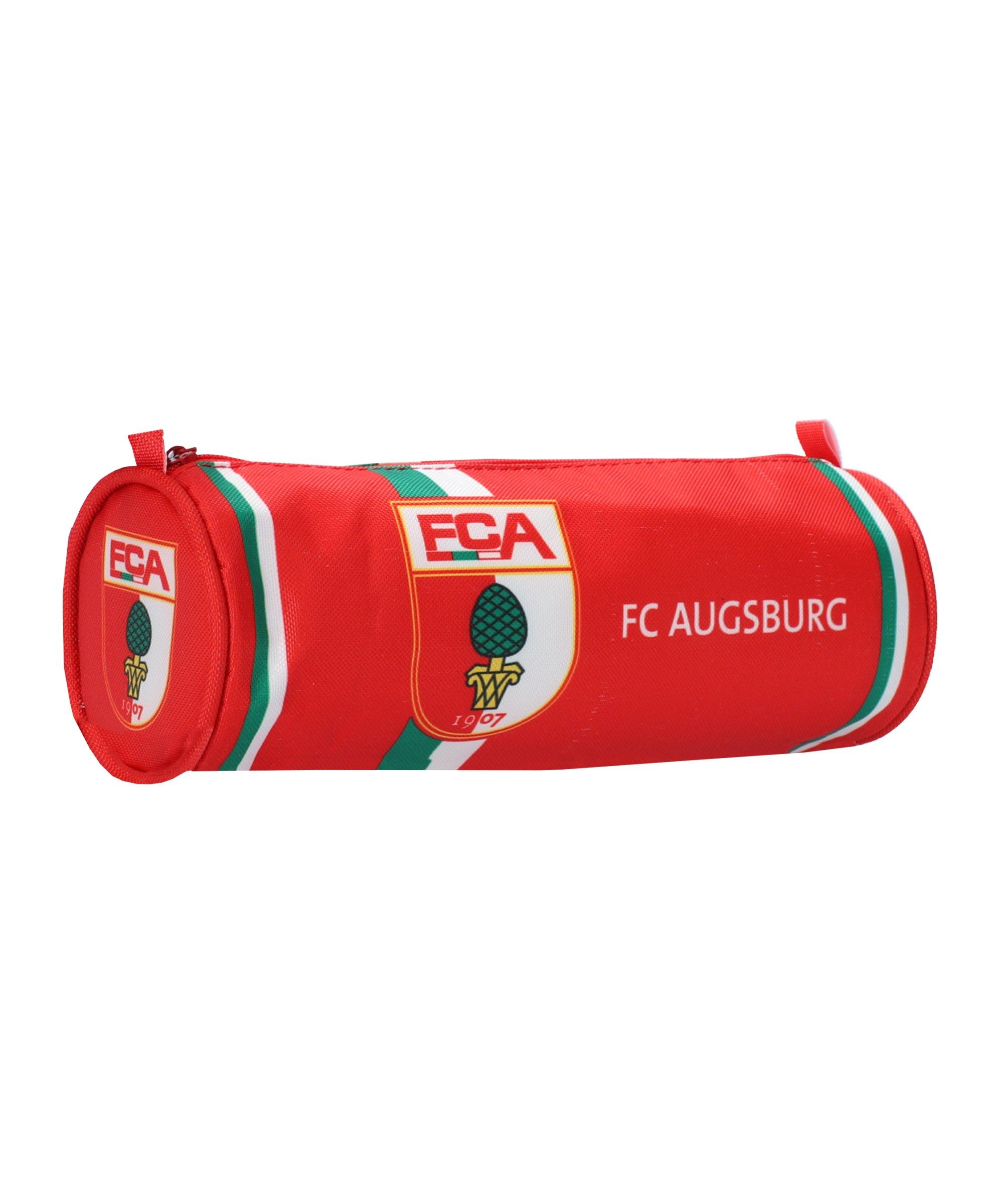 FC Augsburg Faulenzer-Mäppchen Federmäppchen - rot