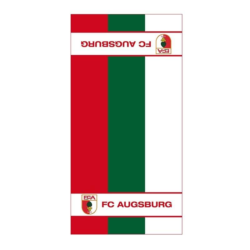 FC Augsburg Handtuch Streifen 50x100 cm - weiss