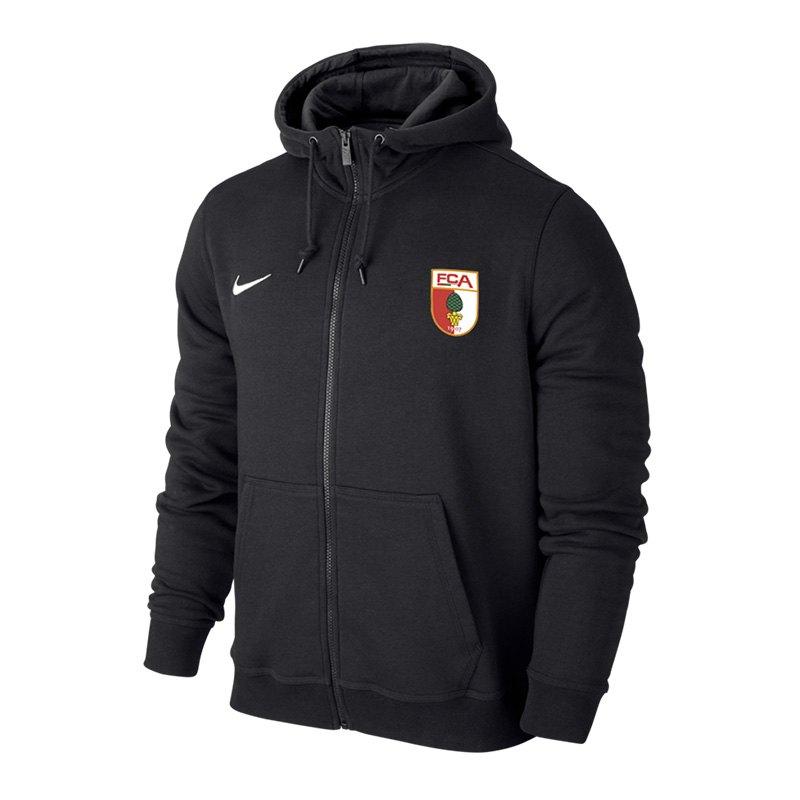 Nike FC Augsburg Kapuzenjacke Schwarz F010 - schwarz