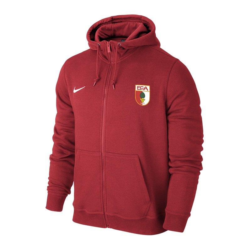 Nike FC Augsburg Kapuzenjacke Rot F657 - rot
