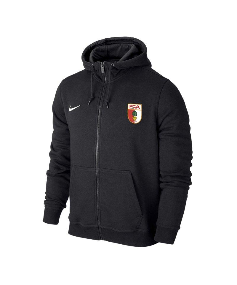 Nike FC Augsburg Kapuzenjacke Kids Schwarz F010 - schwarz