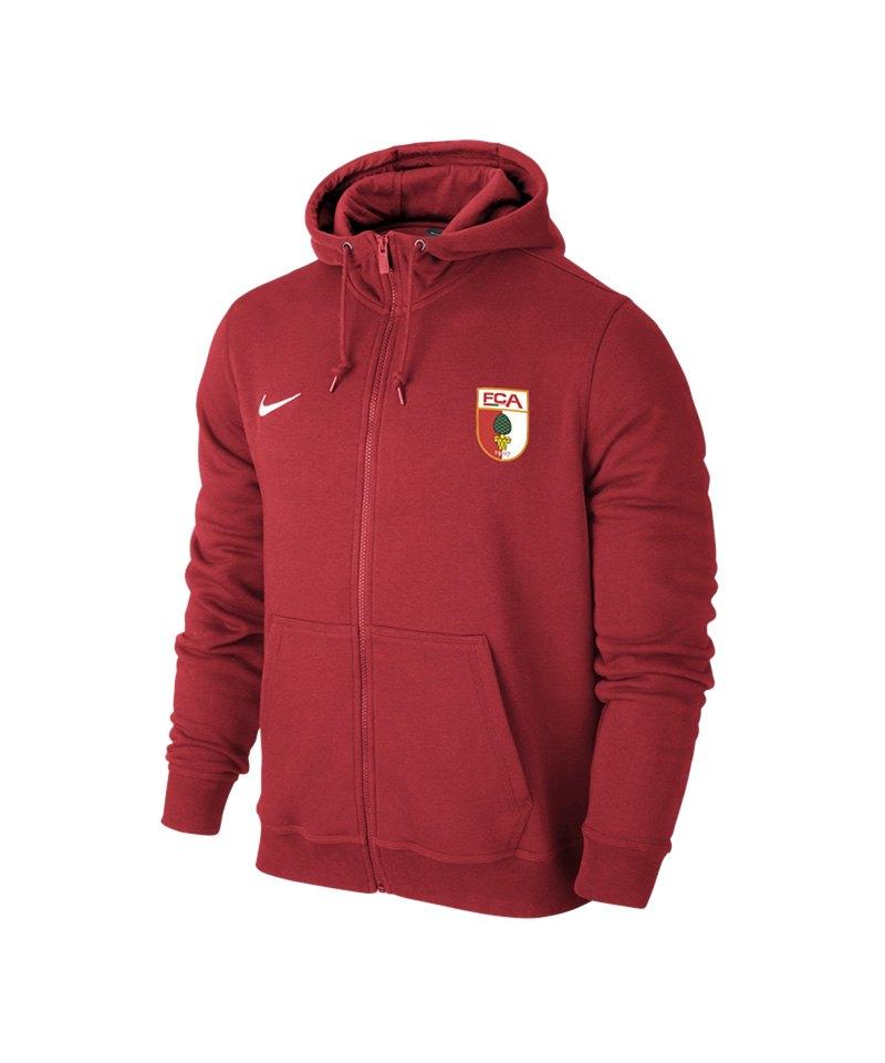 Nike FC Augsburg Kapuzenjacke Kids Rot F657 - rot