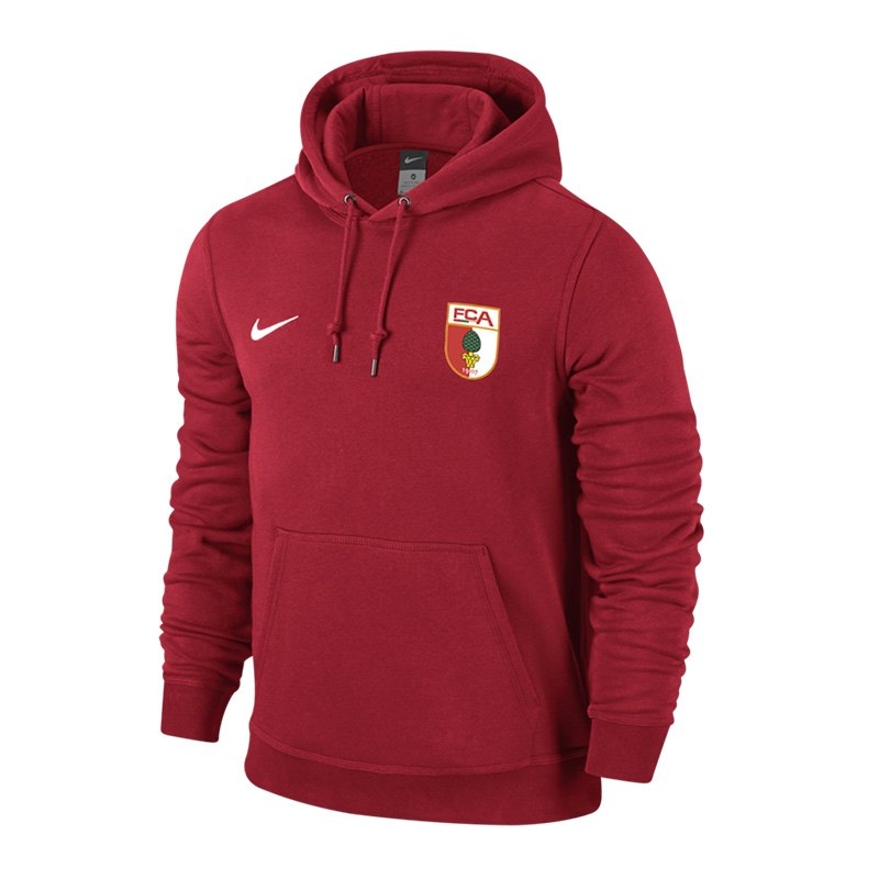 Nike FC Augsburg Kapuzensweatshirt Rot F657 - rot