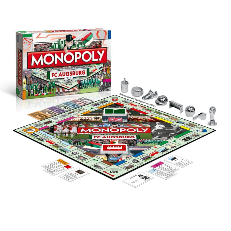 FC Augsburg Monopoly Brettspiel - schwarz