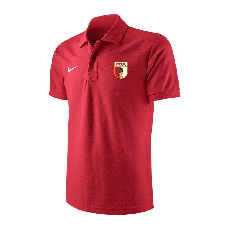 Nike FC Augsburg Poloshirt 2017/2018 Rot F657 - rot