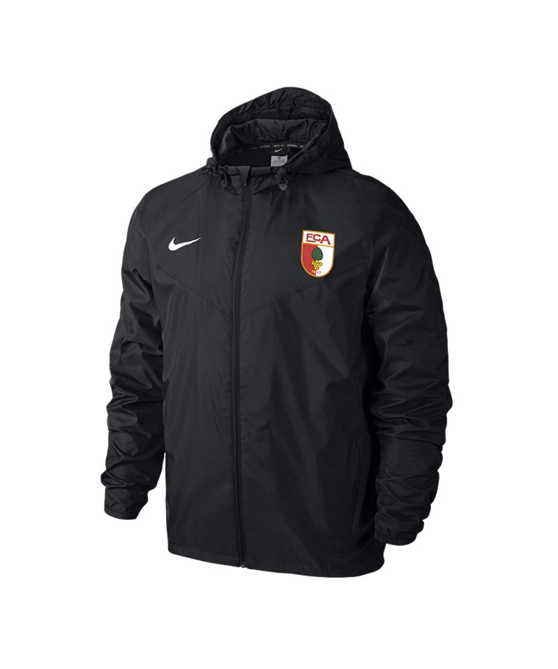 Nike FC Augsburg Regenjacke Kids 2015/2016 F010 - schwarz
