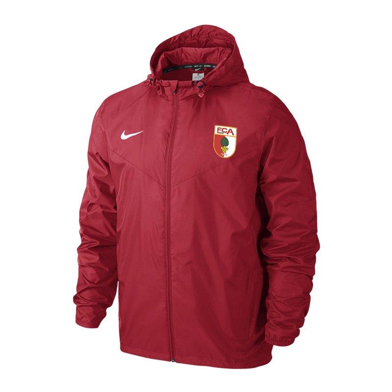 Nike FC Augsburg Regenjacke Kids Rot F657 - rot