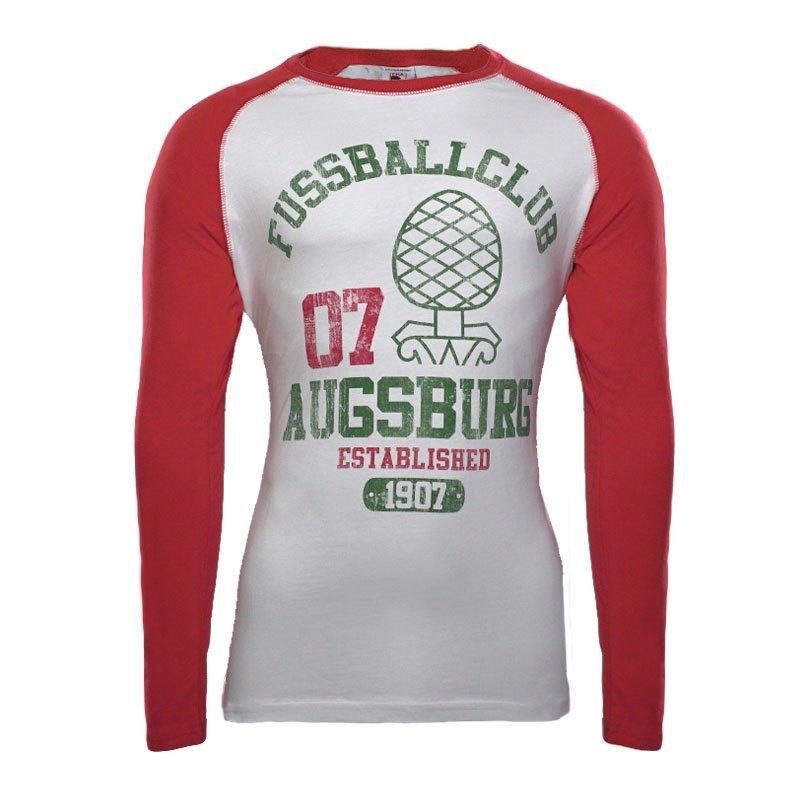 FC Augsburg Shirt langarm Zirbelnuss EST. 1907 - weiss