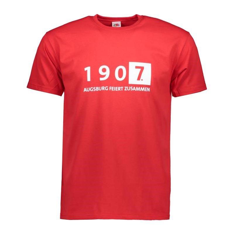 FC Augsburg T-Shirt Augsburg feiert zusammen Rot - rot