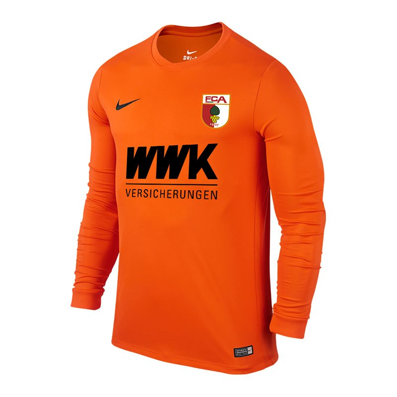 Nike FC Augsburg Torwarttrikot 2016/2017 F815 - orange