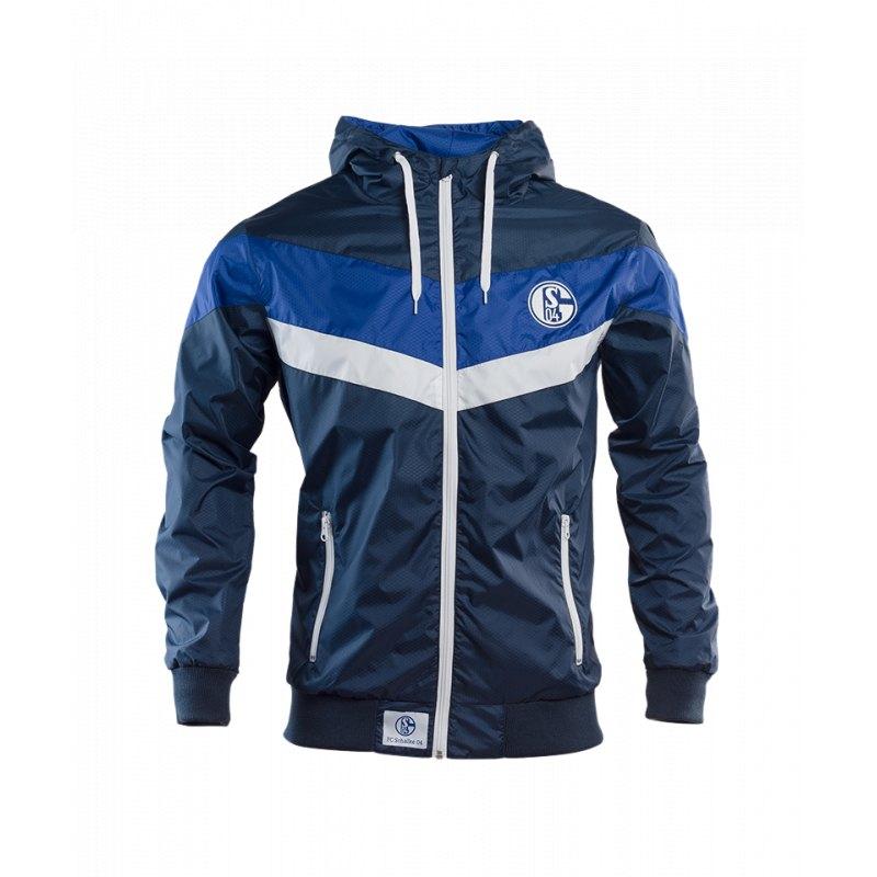 FC Schalke 04 Windbreaker Blau Weiss