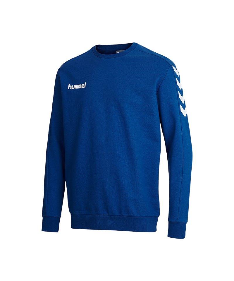 hummel core sweatshirt kids blau f7045 teamsport. Black Bedroom Furniture Sets. Home Design Ideas