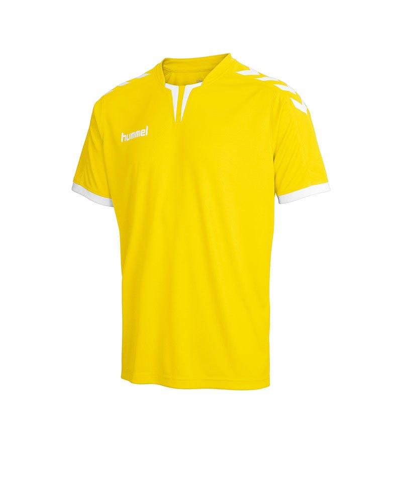 hummel core trikot kurzarm gelb f5001 jersey teamsport vereine herren. Black Bedroom Furniture Sets. Home Design Ideas