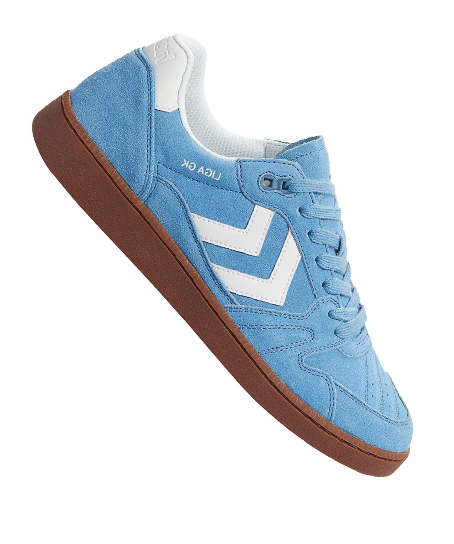 san francisco 277fd 32a31 Hummel Liga GK Sneaker Blau F8604