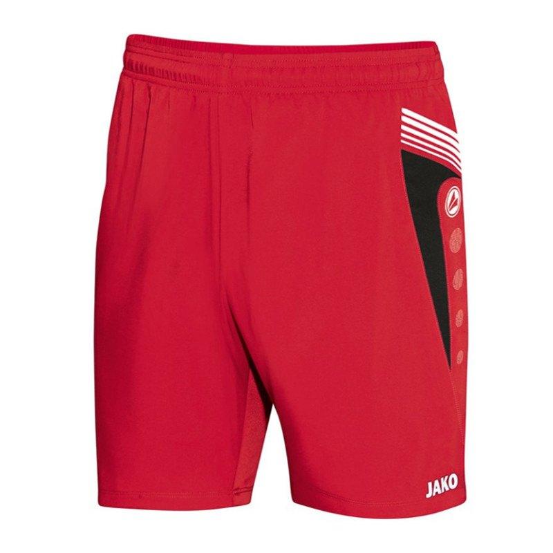 jako pro sporthose kurz short rot schwarz f01 teamsport