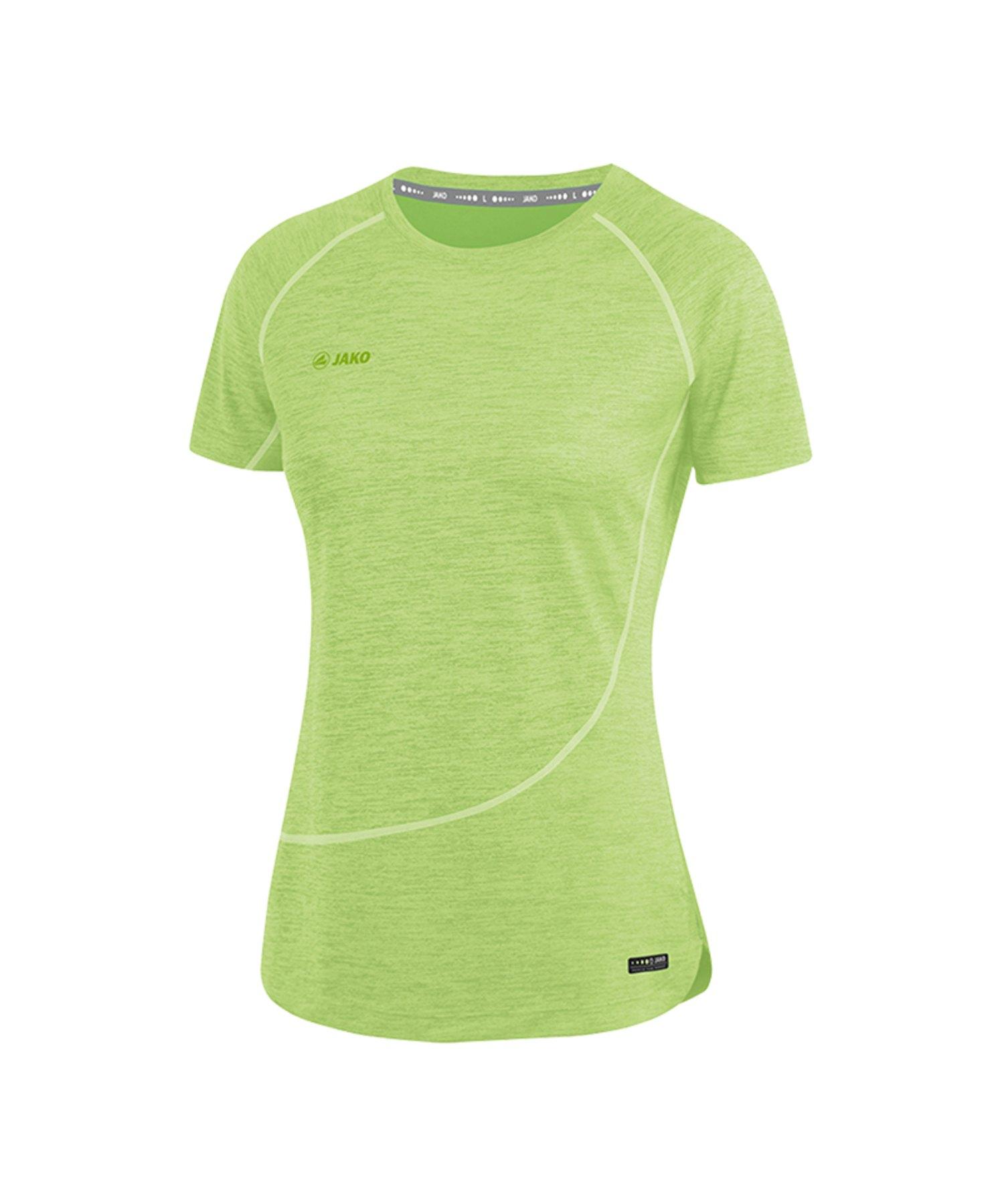 Jako T Shirt Active Basics Damen Grün F25
