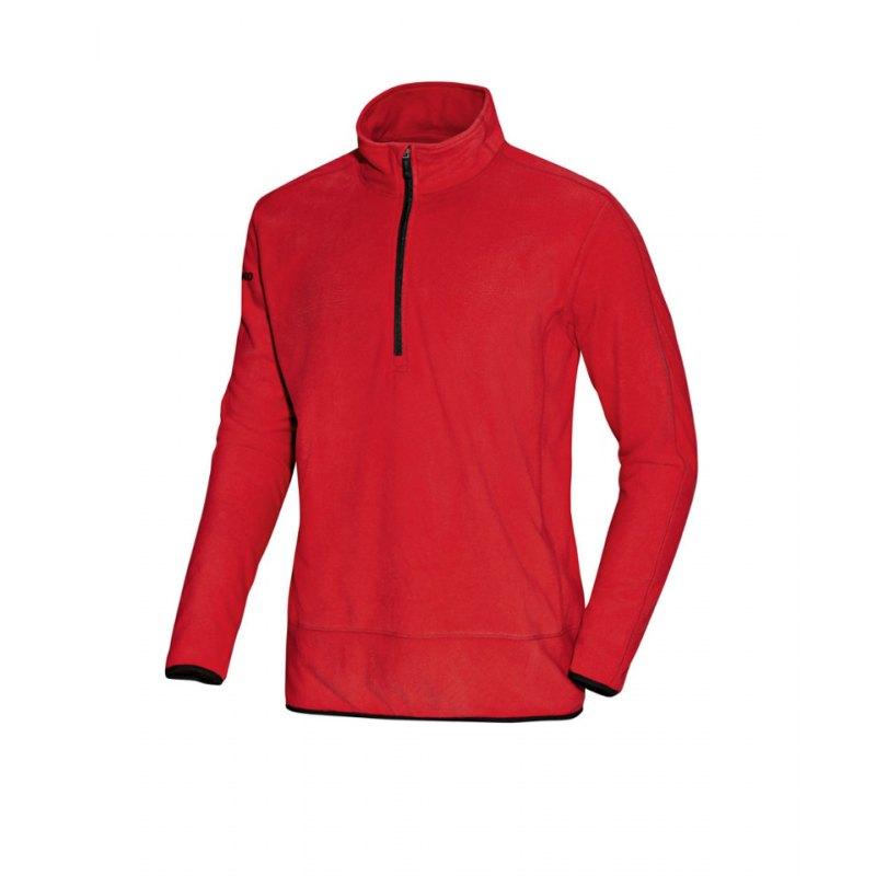 Jako Ziptop Cup Herren rot//weiß Sweatshirt Pullover Fußball Shirt Zip Top
