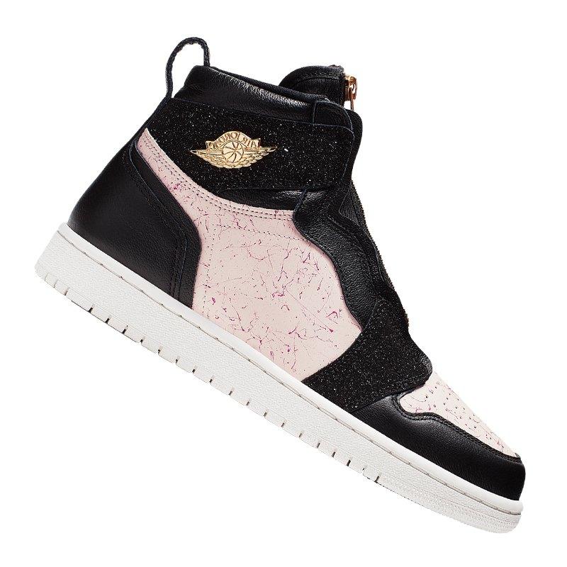 promo code f79f0 506c6 Jordan Air 1 High Zip Sneaker Damen Schwarz F001