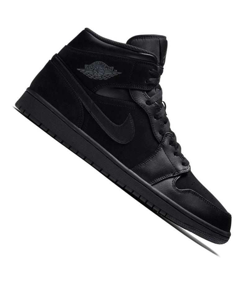 new concept 78493 fa000 Jordan Air 1 Mid Sneaker Schwarz F050 - schwarz