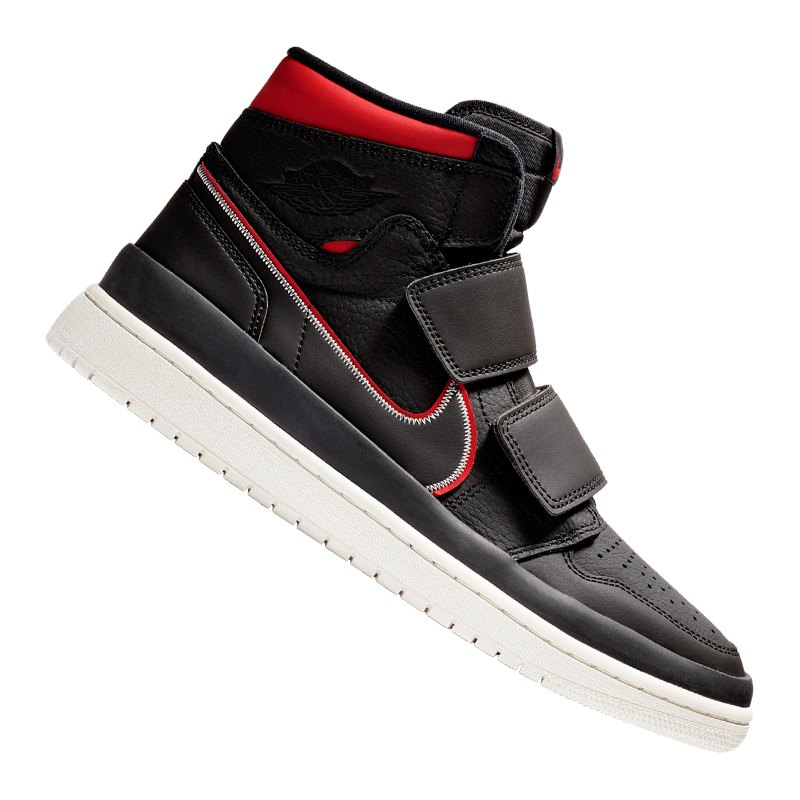 brand new 25f1d dbfa7 Jordan Air 1 Retro High Double Strap Sneaker F016 - schwarz