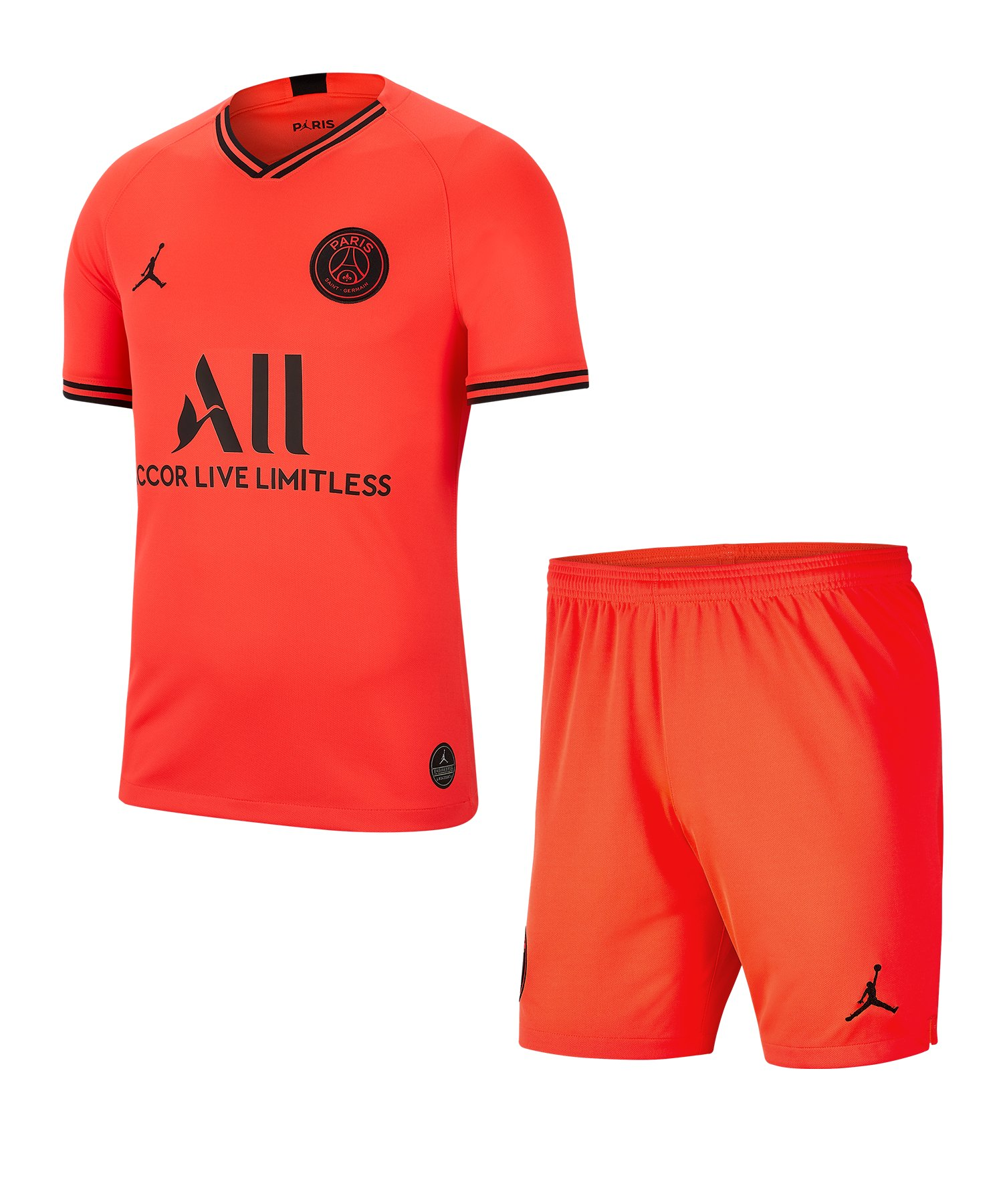 Jordan Paris St. Germain Trikot+Short Away Kids F613