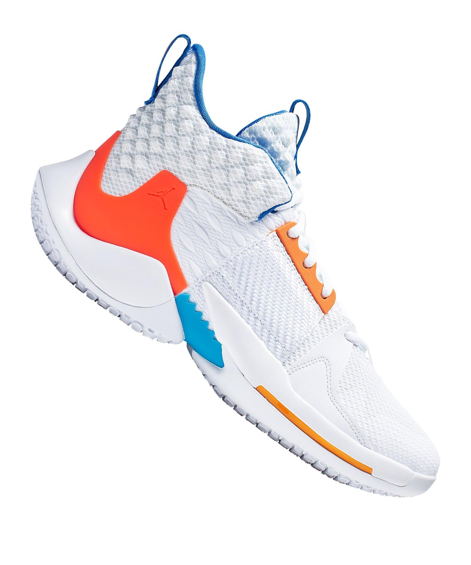 online store eb37a dca17 Jordan Why Not Zer0.2 Sneaker Weiss Rot Blau F100 - weiss