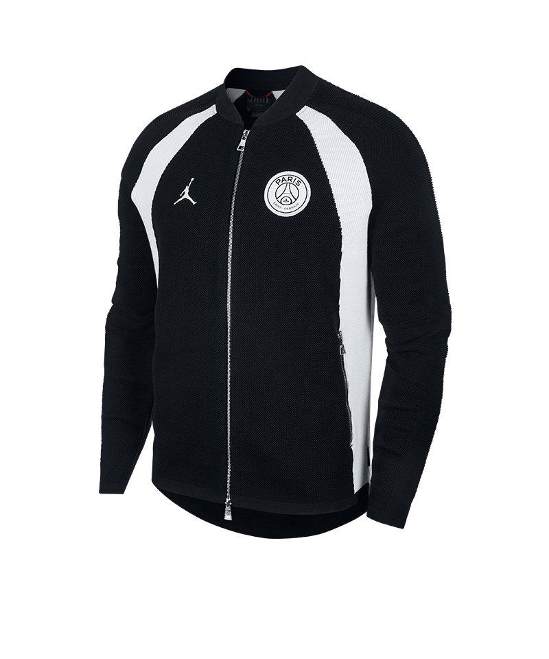 hot sale online e3e05 a530d Jordan X PSG Flight Knit Fullzip Jacke F010 - schwarz