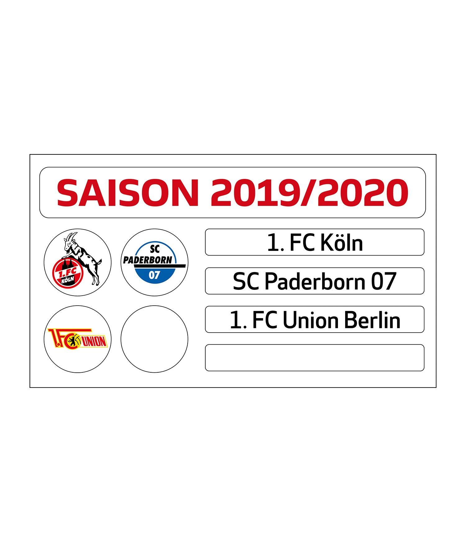 Bundesliga 2017//18 Update-Set f/ür die Magnettabelle