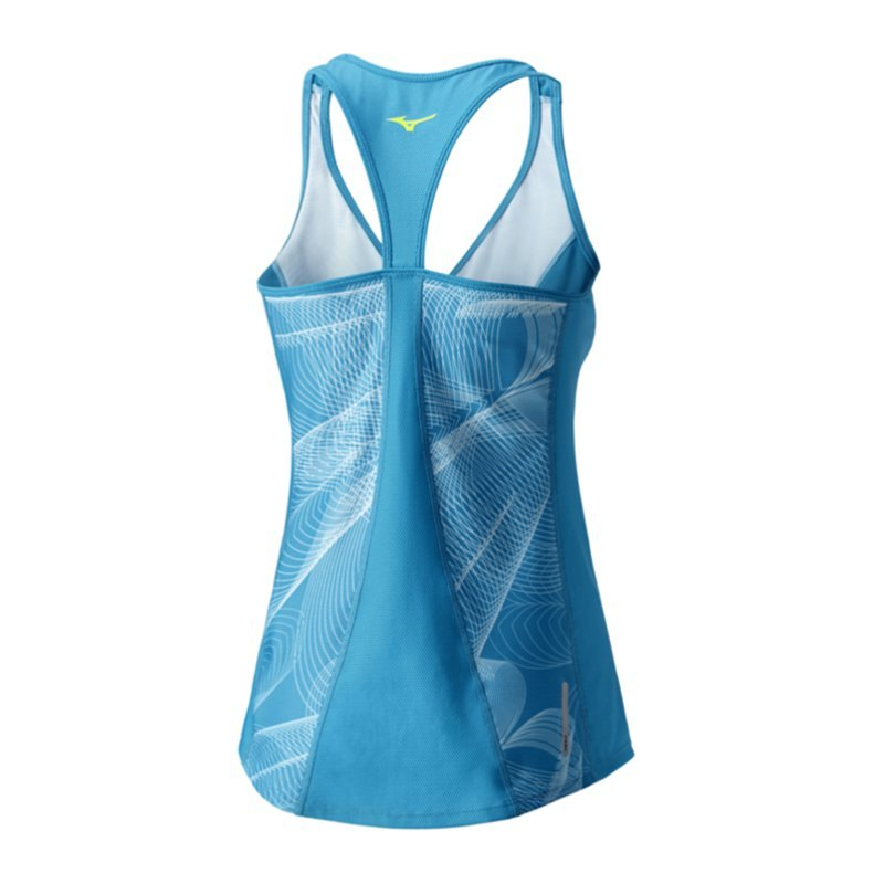 mizuno lotus tanktop running damen blau f26 laufshirt frauen woman damenbekleidung joggen. Black Bedroom Furniture Sets. Home Design Ideas