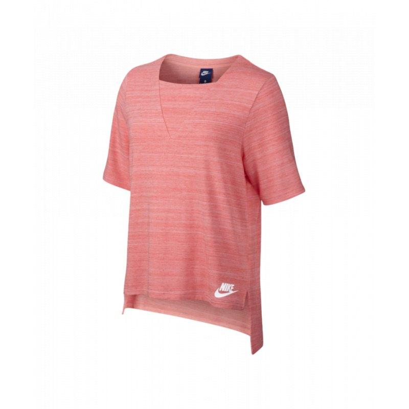 50411b85bdf414 Nike Advance 15 Top T-Shirt Damen Rosa F808 - rosa