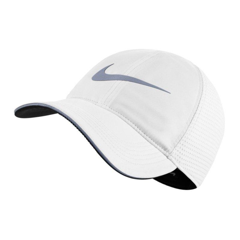 nike aerobill running cap kappe weiss f100 schildm tze. Black Bedroom Furniture Sets. Home Design Ideas