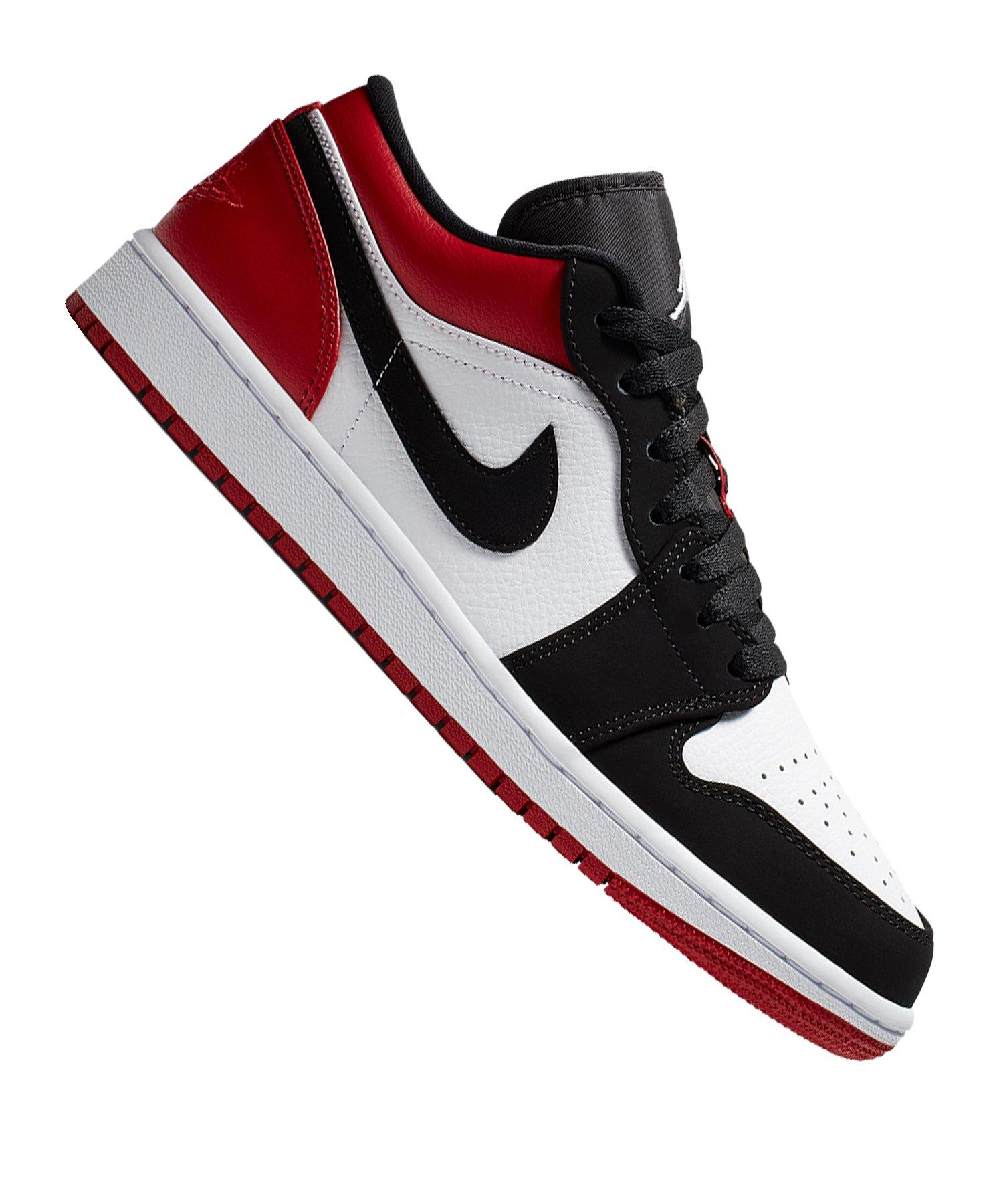 online retailer 4b01a 5d8c2 Jordan Air 1 Low Sneaker Weiss Schwarz Rot F116 - Weiss