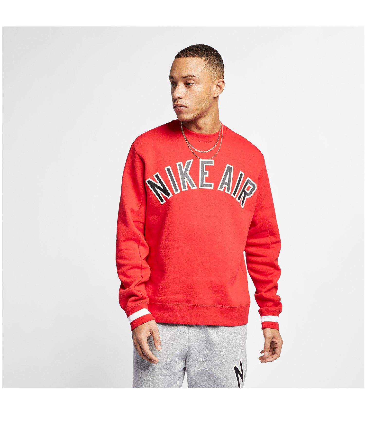 Nike Air Crew Fleece Sweater Rot F657