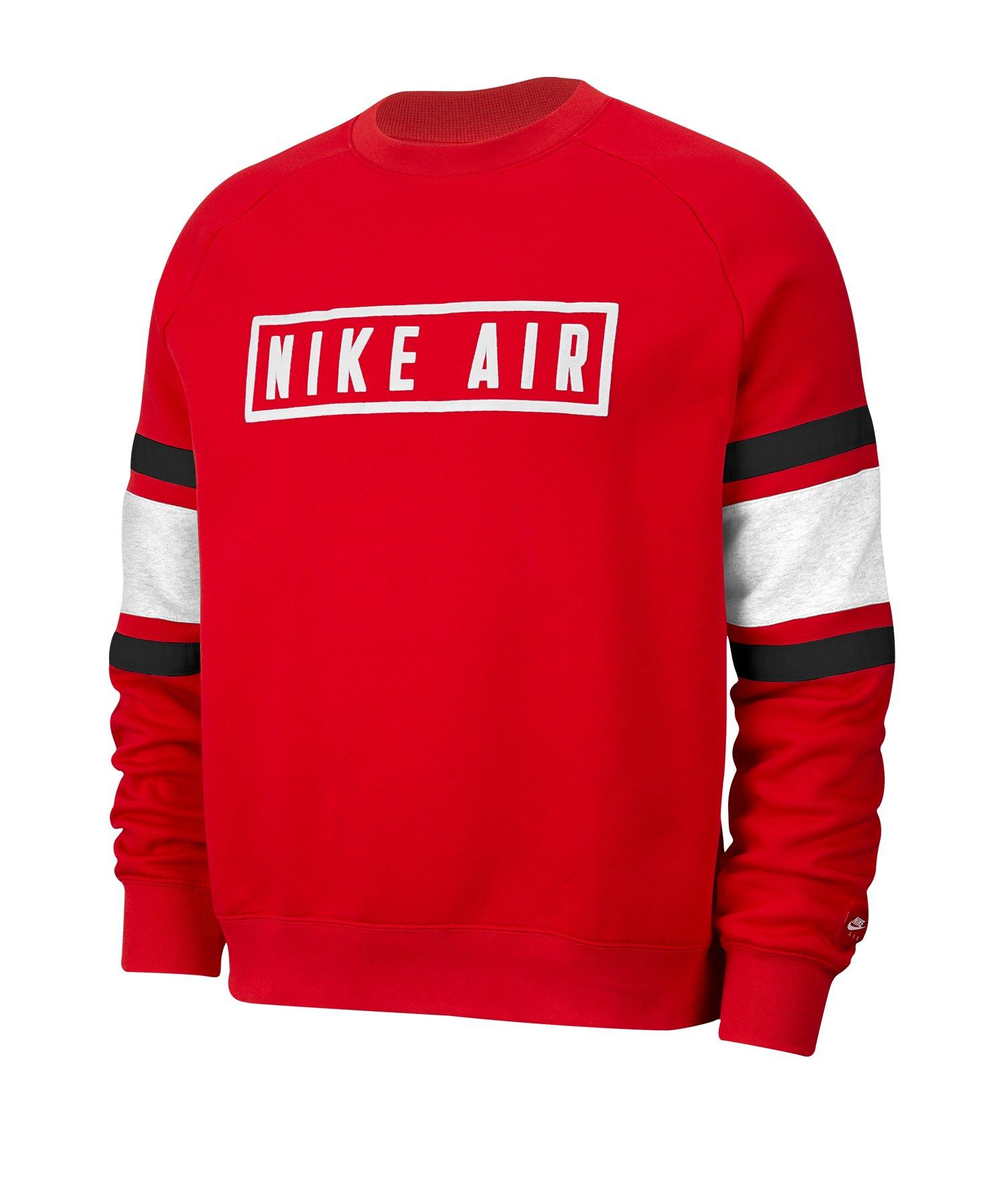 Nike Air Fleece Crew Sweatshirt Rot F657
