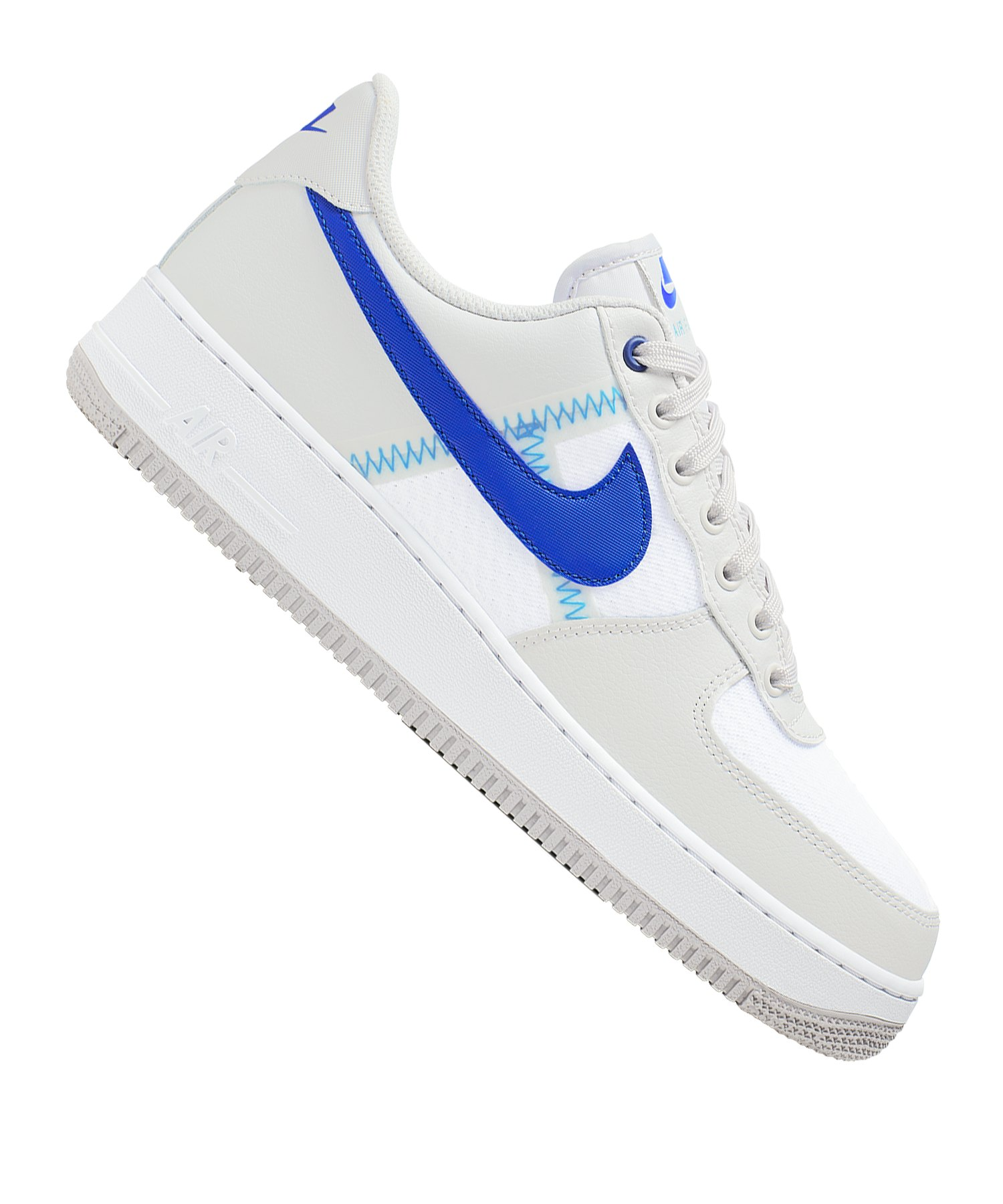 Nike Air Force 1 07 LV8 1 Sneaker Grau Blau F001
