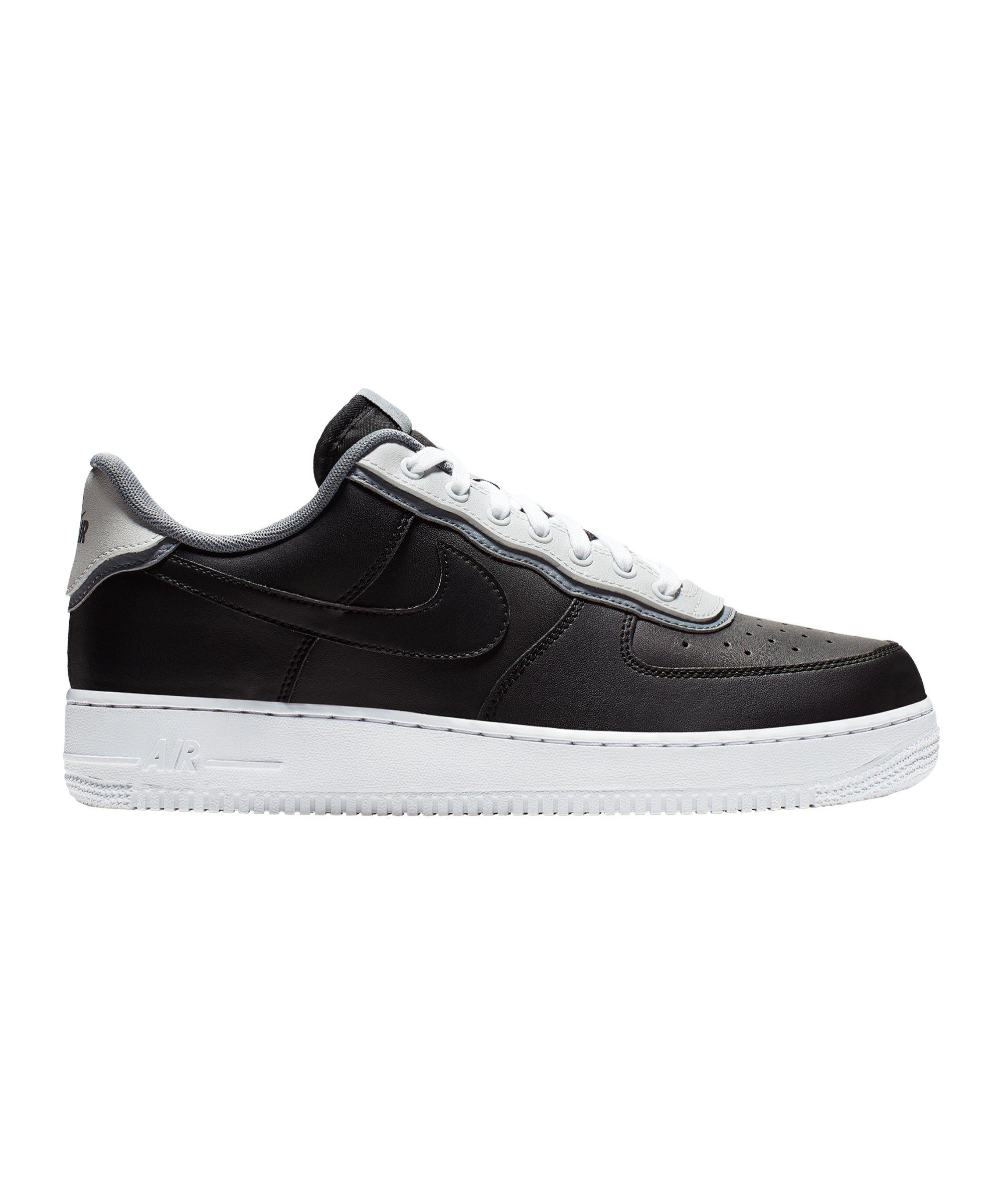 newest 68077 ceaf7 Nike Air Force 1 07 LV8 Sneaker Schwarz Grau F002 - Schwarz
