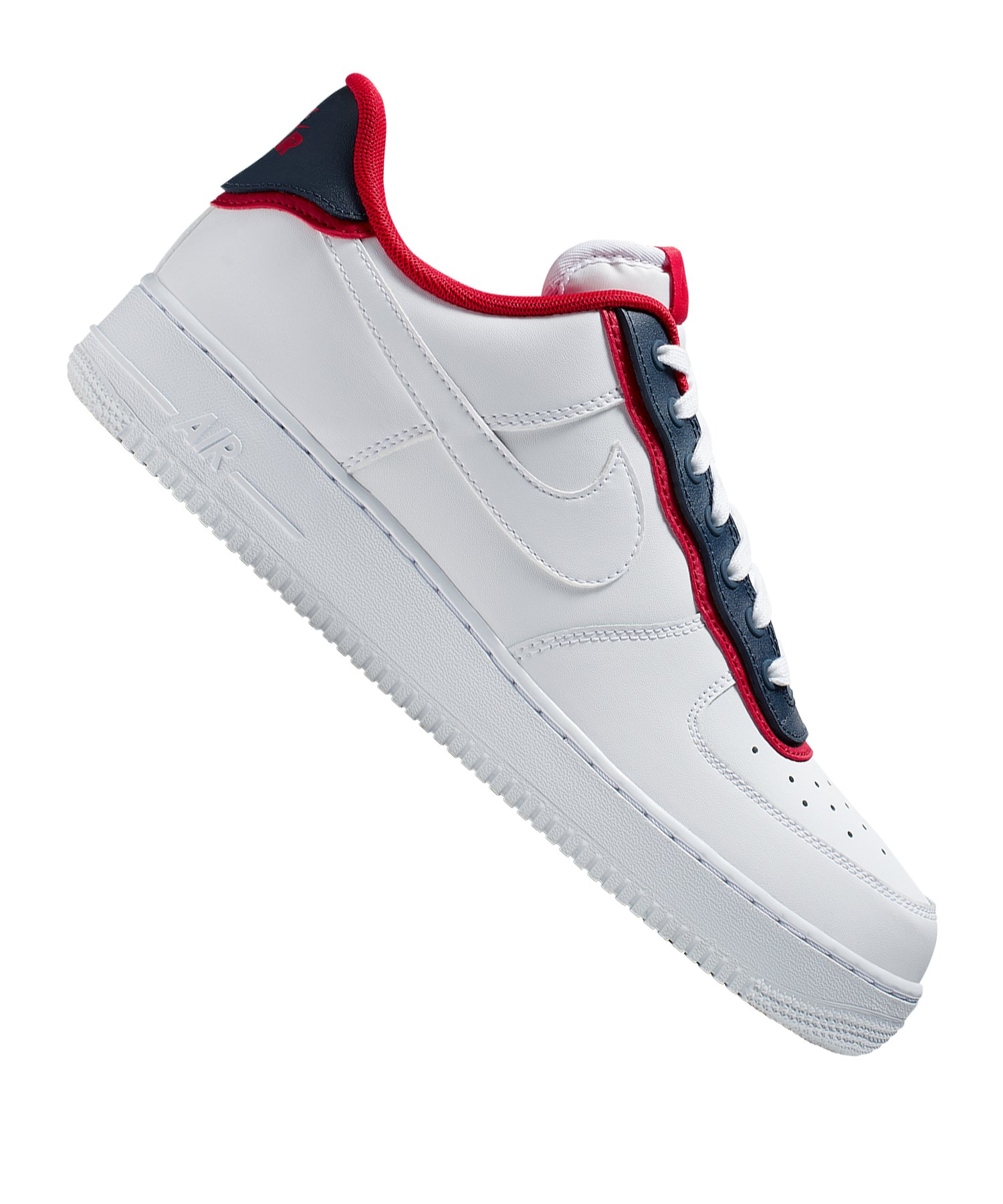 Nike Air Force 1 07 LV8 Sneaker Weiss Blau F100