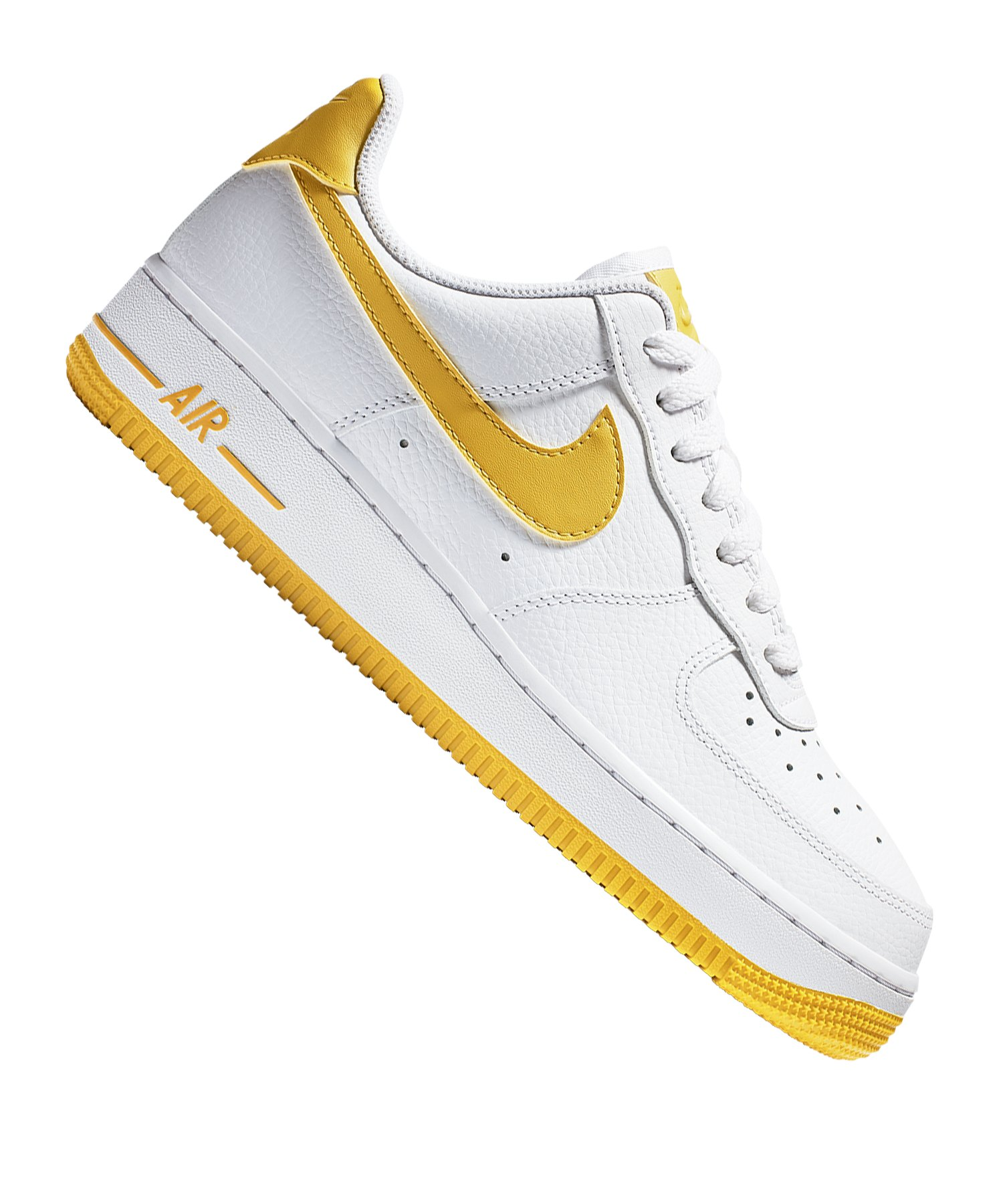 Nike Air Force 1 '07 Sneaker Damen Weiss Gelb F103