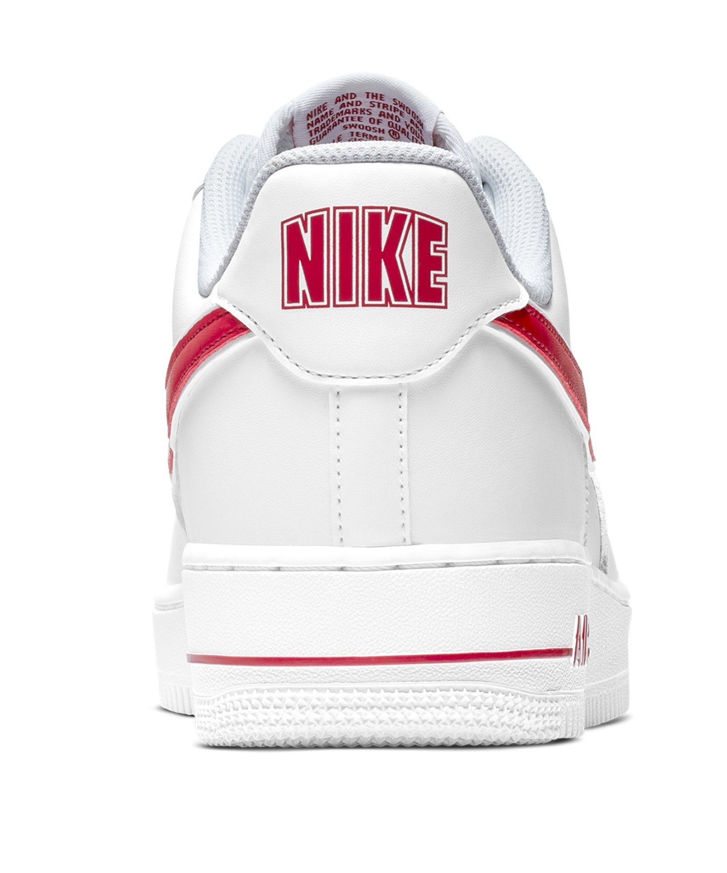 competitive price 4adb2 7eb84 ... Nike Air Force 1 07 Sneaker Weiss Rot F102 - weiss ...