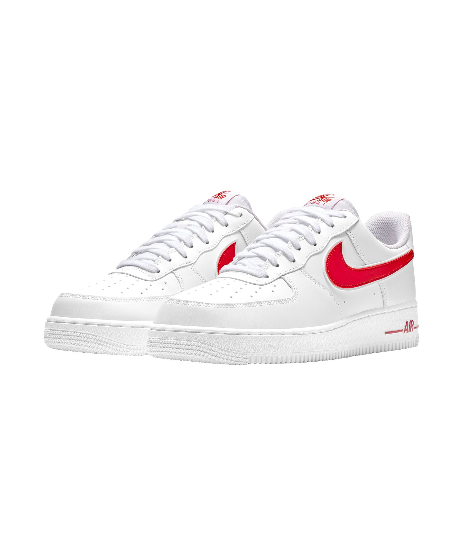 be4db15fc08e0 Nike Air Force 1  07 Sneaker Weiss Rot F102