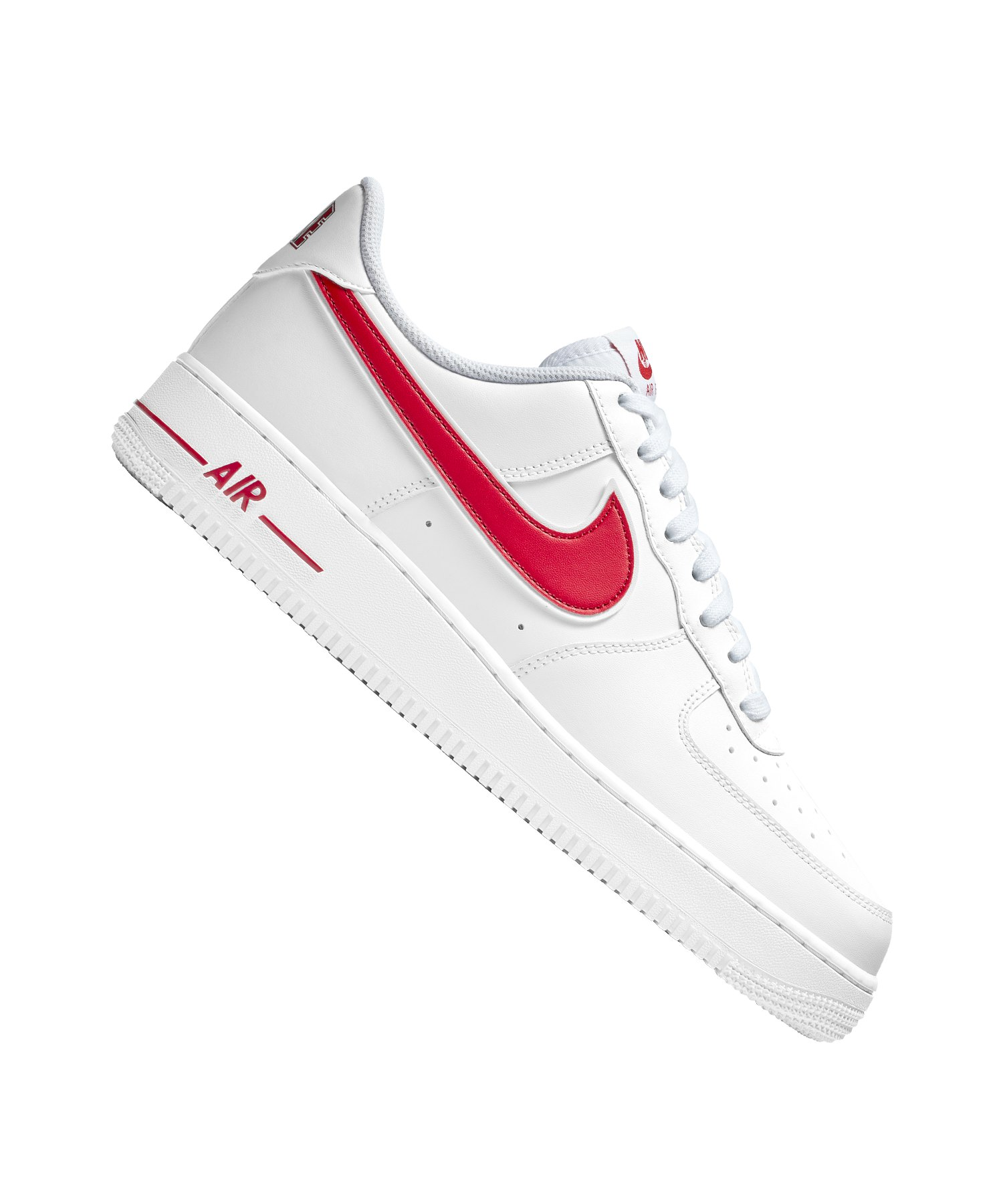 new style e142e 8cbc4 Nike Air Force 1  07 Sneaker Weiss Rot F102 - weiss