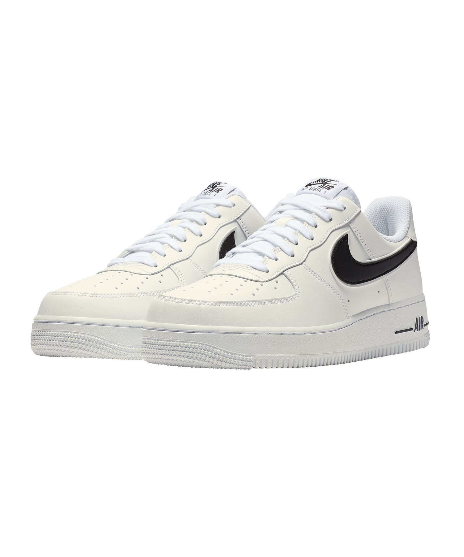 nike air force 1 39 07 sneaker weiss schwarz f101. Black Bedroom Furniture Sets. Home Design Ideas
