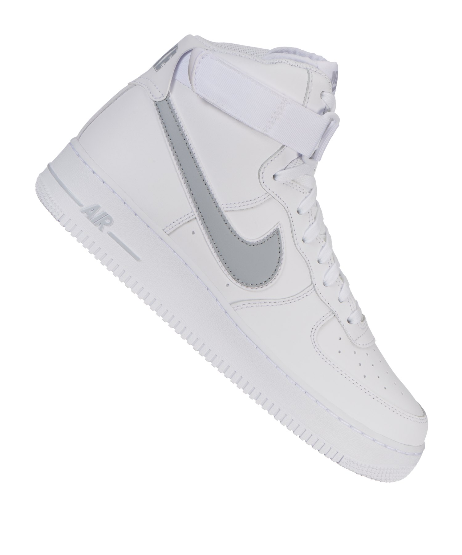 cheap for discount 8bc72 b08df Nike Air Force 1 High '07 Sneaker Weiss Grau F100