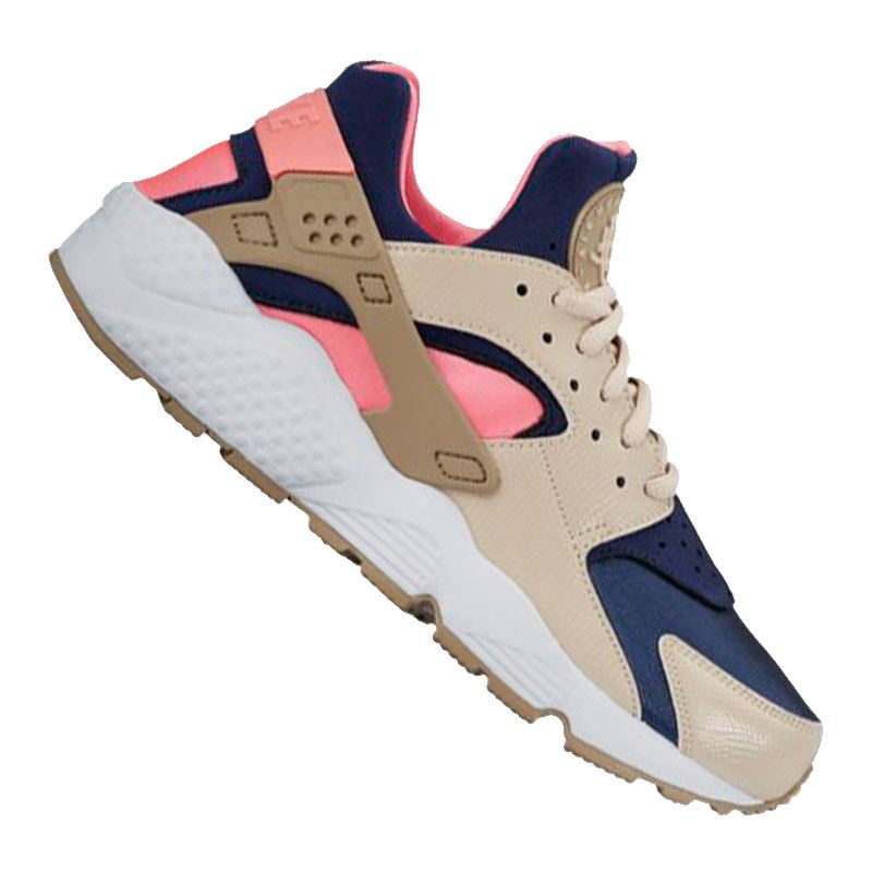 nike air huarache sneaker damen beige blau f111 schuh. Black Bedroom Furniture Sets. Home Design Ideas