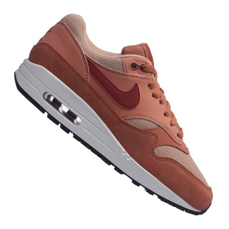 319986 015 Nike Air Max 1 Schuhe weiß braun heißen Männer
