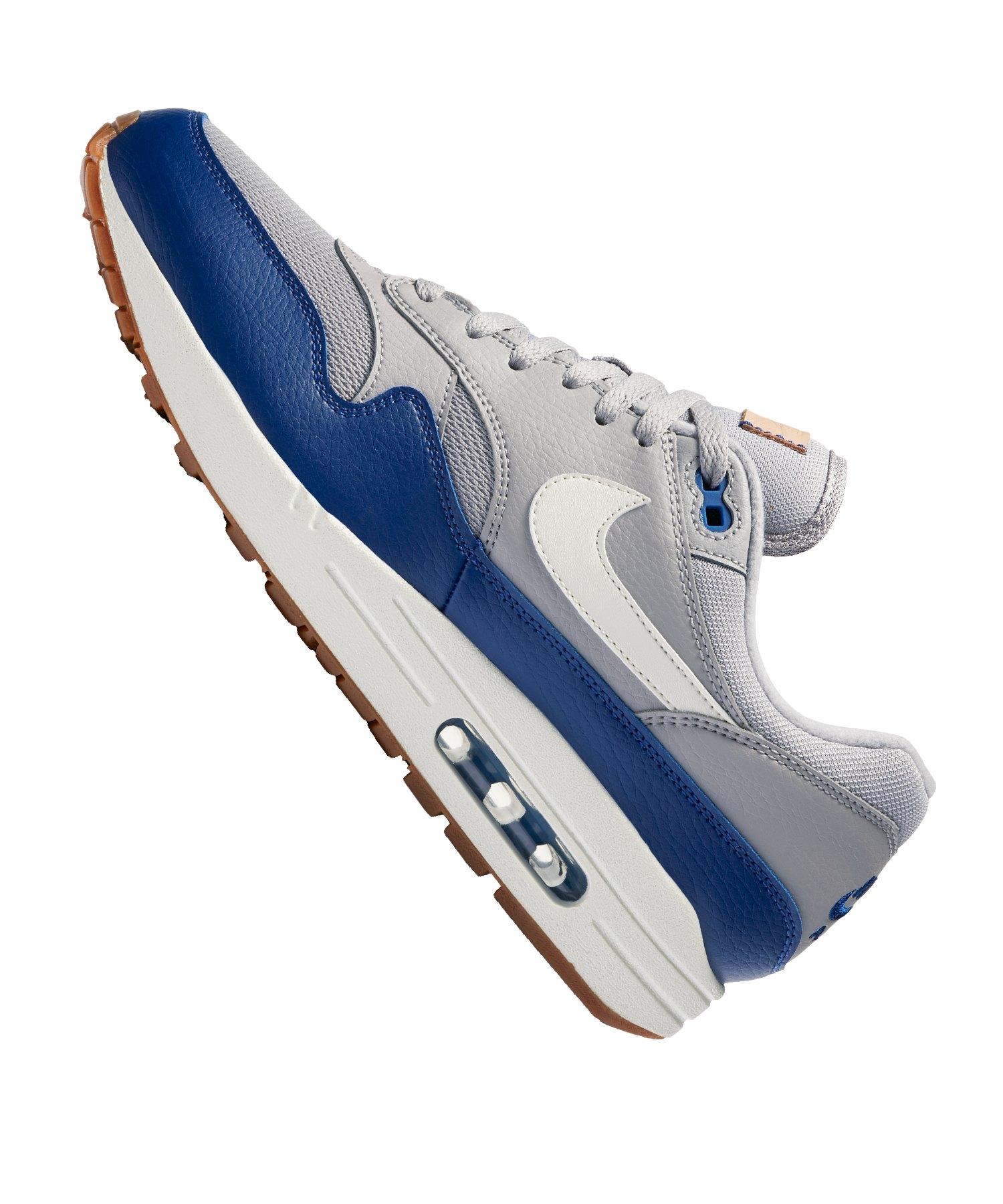 Nike Air Max 1 Sneaker Grau Blau F008  Streetstyle   Freizeit ... 113b89929a