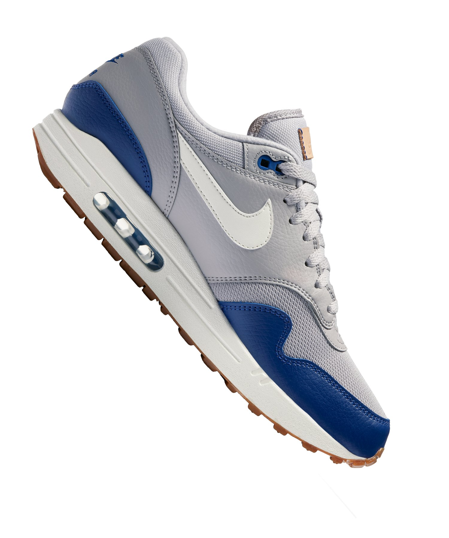 Nike Air Max Weiß 1 Schwarz Blau c43RjL5Aq