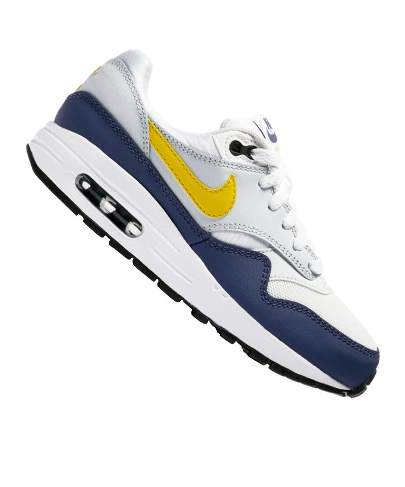 size 40 3f3b2 7816f Nike Air Max 1 Sneaker Kids Grau Blau F107 - grau